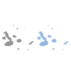 Dot galapagos islands map abstractions vector