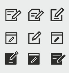 edit icons set vector image