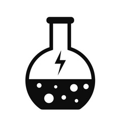 energy solution flask icon simple style vector image