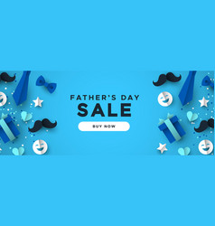 fathers day sale web banner for special discount vector image