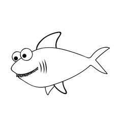 fish cartoon icon image vector image