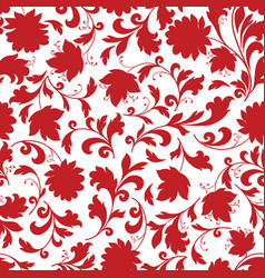 Floral seamless pattern flower silhouette vector