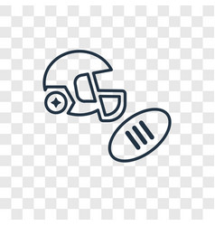 football concept linear icon isolated on vector image