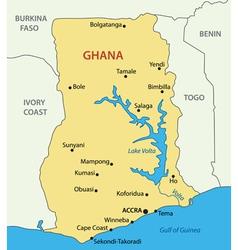 Ghana - map vector image