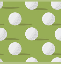 Golf balls seamless pattern on a green background vector