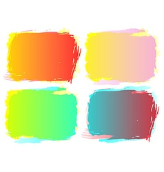 grunge frame setcolor background design vector image
