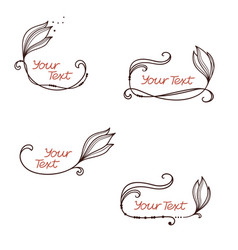 hand drawn flower frames vector image