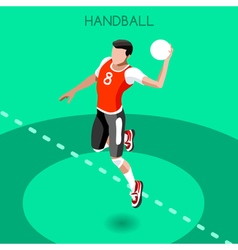 Handball 2016 Summer Games 3D Isometric vector image