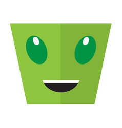happy halloween cartoon alien avatar vector image