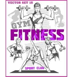 Healthy Fitness Girls vector image