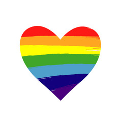 heart rainbow lgbt vector image