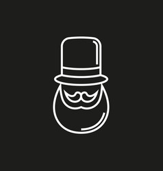 hipster black and white vector image vector image