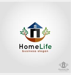 home life - residence logo vector image