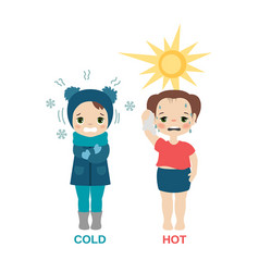 Hot and cold girl hot and cold girl vector