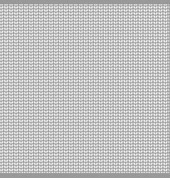 knitted pattern seamless white sweater or scarf vector image