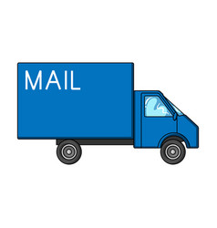 mail machinemail and postman single icon in vector image