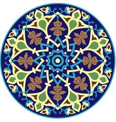 Mandala geometric ornament islamic style vector
