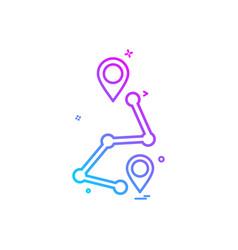 Map location navigation gps icon design vector