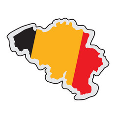 map of belgium with its flag vector image