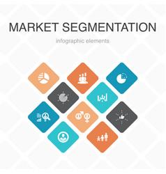 Market segmentation infographic 10 option color vector