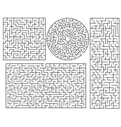 Maze templates vector image