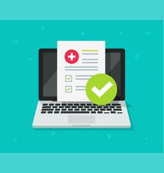 medical prescription digital document or online vector image