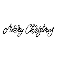 merry christmas text xmas lettering calligraphy vector image