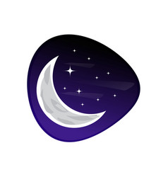 Moon with stars icon vector
