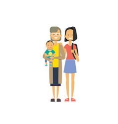 Mother and children on white background tree vector