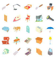 Nanny icons set cartoon style vector