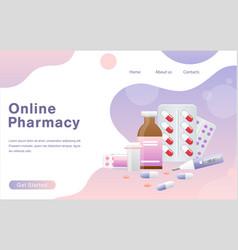 Online pharmacy concept vector
