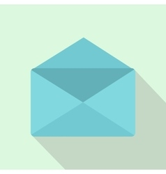Open envelope icon flat style vector