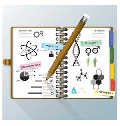 Organize Notebook Science And Education vector