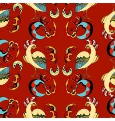 Peacocks background vector