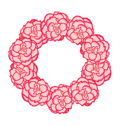 pink begonia flower picotee first love wreath vector image