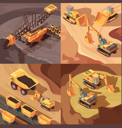 Quarrying mine design concept vector