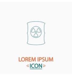 Radioactive waste computer symbol vector
