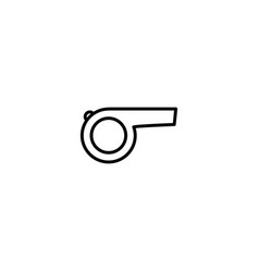 Referee whistle icon vector