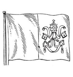 roman states flag vintage vector image