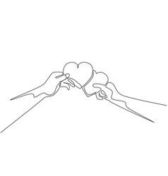 romantic love invitation card concept single vector image