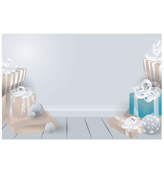 Room with chrismas gifts vector