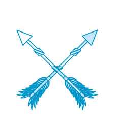 Rustic arrows with ornamental design vector