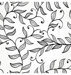 Seamless elegant floral background vector image