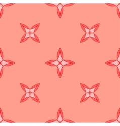 Seamless geometric pattern Pink vector image