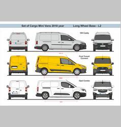 Set cargo mini vans lwb l2 2018 vector