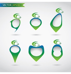 Set of abstract label design vector image