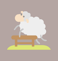 sleep cute cartoon sheep icon vector image