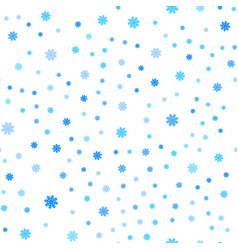 snowflakes seamless pattern falling isolated vector image