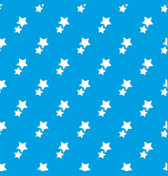 stars pattern seamless blue vector image