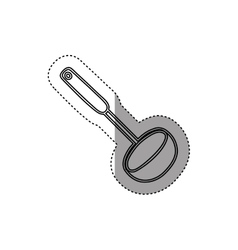 Sticker silhouette soup ladle utensil kitchen vector